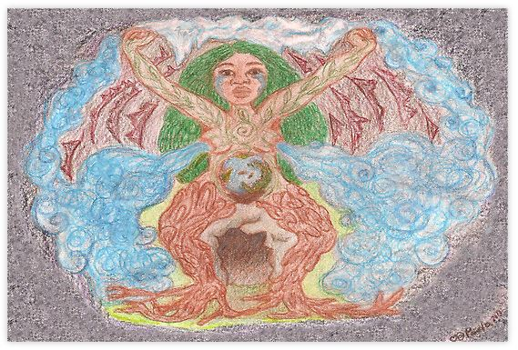 Goddess- Gaia by Paola Suarez Goddess Spiral